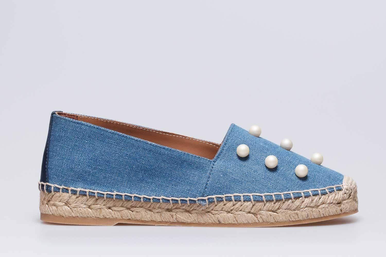 Sandalia plana Abby azul